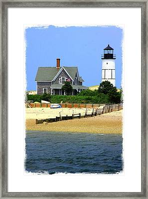 Sandy Neck Light Framed Print by Stephen Stookey
