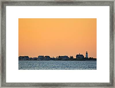 Framed Print featuring the photograph Sandy Neck Lighthouse by Amazing Jules