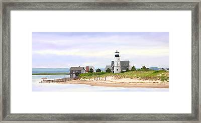 Sandy Neck Lighthouse Framed Print by Michelle Wiarda