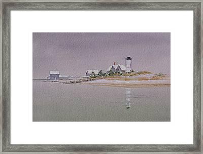 Sandy Neck Winter Light Framed Print by Karol Wyckoff