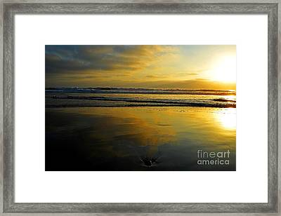 Sandy Reflections Framed Print