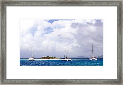 Sandy Spit Framed Print by Michael Glenn