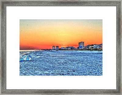 Sandy Sunset Framed Print