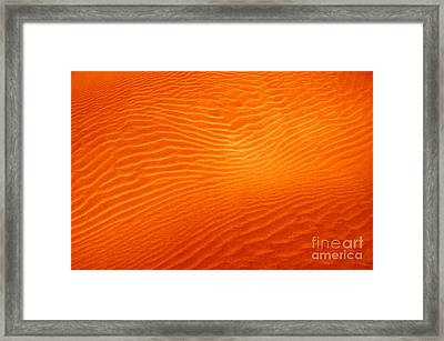 Sandy Sunset Framed Print