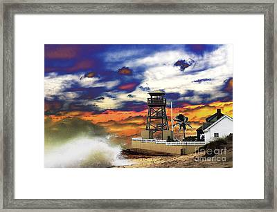 Sandy Takes Refuge Framed Print by Don Youngclaus