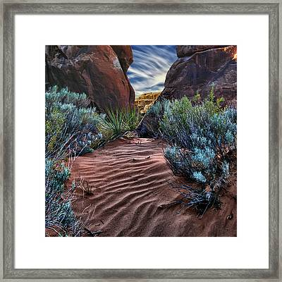 Sandy Trail Arches National Park Framed Print