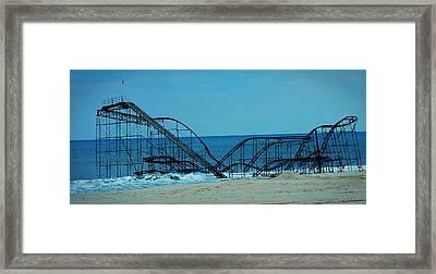 Sandy's Rollercoaster Framed Print by William Walker