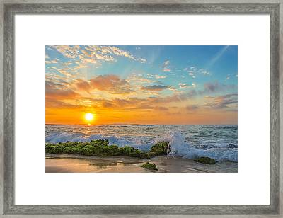 Sandy Beach Sunrise 3 Framed Print