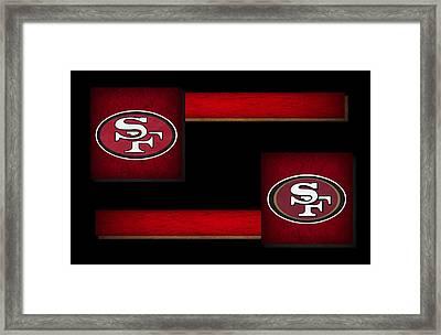 Sanfrancisco 49ers Framed Print by Joe Hamilton