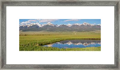 Sangre De Cristo Morning Framed Print by Aaron Spong