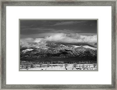 Sangre De Cristo Mountains From Blueberry Ridge Taos New Mexico Framed Print