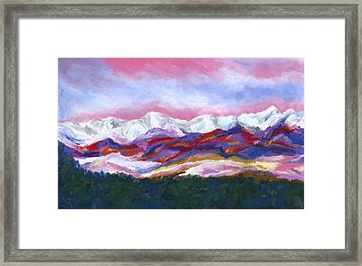 Sangre De Cristo Mountains Framed Print