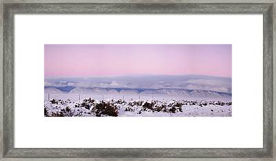 Sangre De Cristo Range With Clouds Framed Print by Panoramic Images