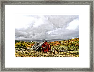 Sangre De Cristos Framed Print by Rebecca Adams