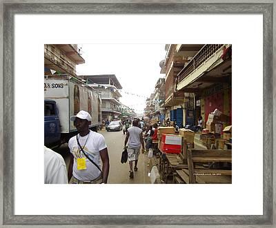 Framed Print featuring the photograph Sani Abacha Street- Year 2011 by Mudiama Kammoh