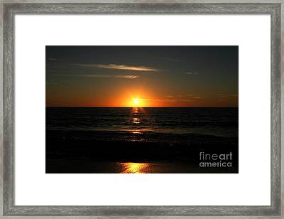 Sanibel At Sunset Framed Print