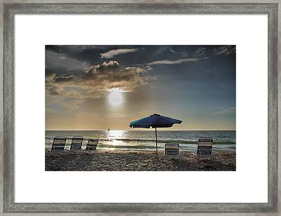 Sanibel Ease II Framed Print by Steven Ainsworth