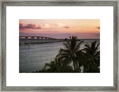 Sanibel Island Causeway Framed Print