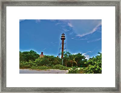 Framed Print featuring the photograph Sanibel Island Lighthouse by Timothy Lowry