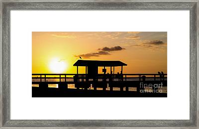 Sanibel Island Sunset Framed Print by Edward Fielding