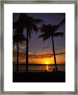Sanibel Island Sunset Framed Print