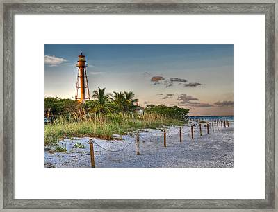Sanibel Lighthouse Framed Print by Geraldine Alexander