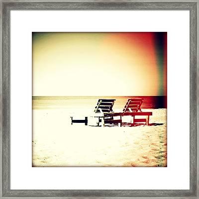 Sanibel Retreat Sunset Framed Print