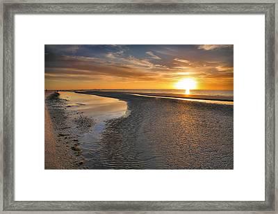 Sanibel Sunrise Xxi Framed Print by Steven Ainsworth