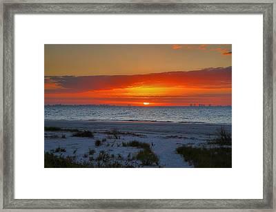 Sanibel Sunrise Xxiii Framed Print by Steven Ainsworth