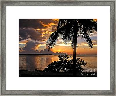 Sanibel Sunset Framed Print