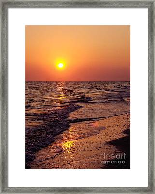 Framed Print featuring the photograph Sanibel Sunset by D Hackett