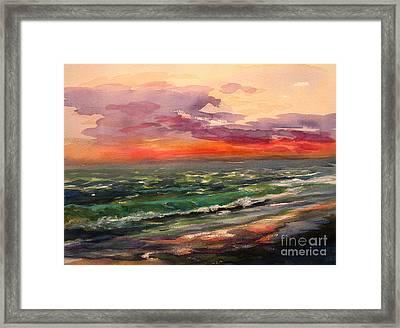 Sanibel Sunset Framed Print by Julianne Felton