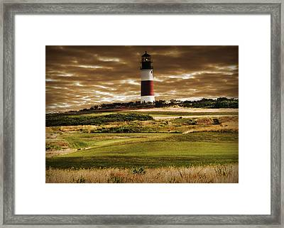 Framed Print featuring the photograph Sankaty Head Lighthouse In Nantucket by Mitchell R Grosky