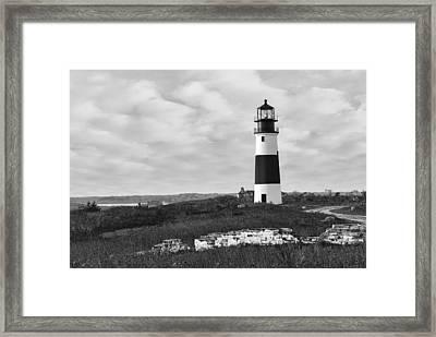 Sankaty Head Lighthouse Nantucket Cape Cod Framed Print