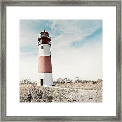 Sankaty Head Lighthouse Nantucket  Framed Print