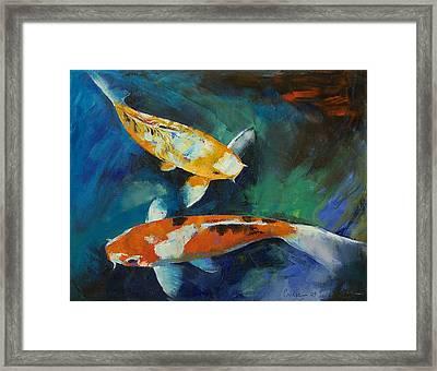 Sanke Koi Painting Framed Print