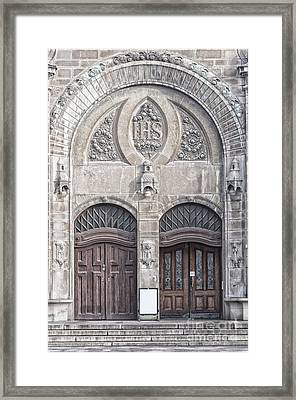 Sankt Johannes Kyrkas Main Entrance Framed Print by Antony McAulay