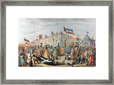 Sans-culottes Parade, 1793 Framed Print by Granger