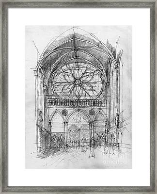 Sant Cahpelle Interior Framed Print by Peut Etre