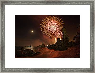 Sant Joan Feast Framed Print by Jordi Gallego