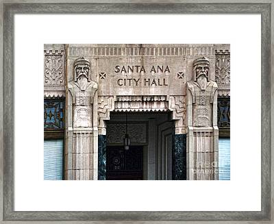 Santa Ana City Hall - 01 Framed Print by Gregory Dyer
