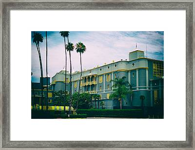 Santa Anita Park Race Track Framed Print by Linda Dunn