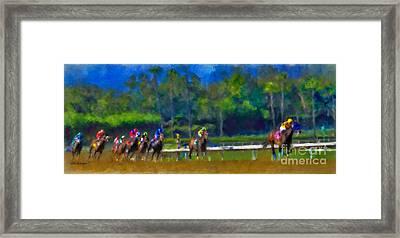 Santa Anita Races Framed Print