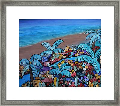 Santa Barbara Beach Framed Print by Barbara St Jean