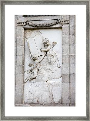 Santa Barbara Church Reliefs Framed Print