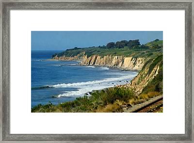 Santa Barbara Coast Framed Print