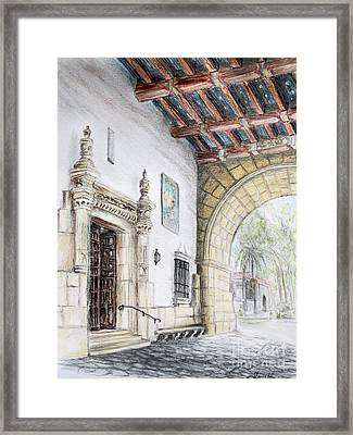 Santa Barbara Courthouse Arch Framed Print