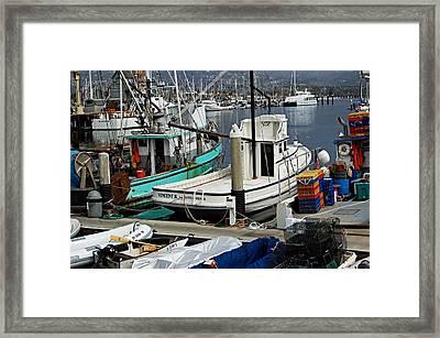 Santa Barbara Fishing Boats Framed Print
