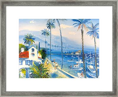 Santa Barbara Harbor Framed Print by Mikhail Zarovny