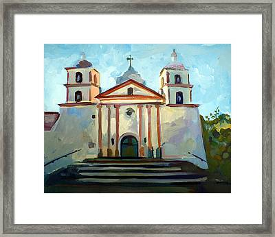 Santa Barbara Mission Framed Print
